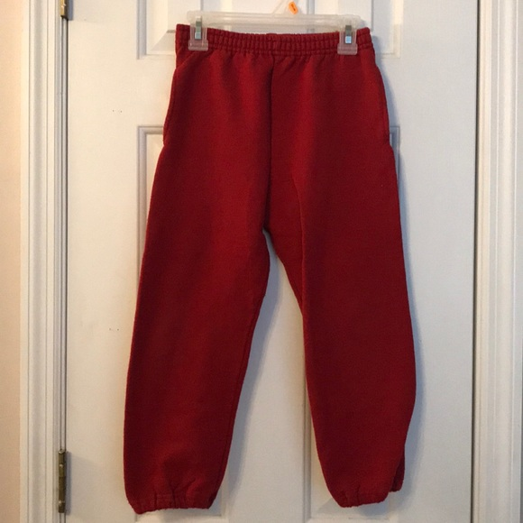 dca5aba2 Fruit of the Loom Bottoms   Boys Red Sweatpants Size 67   Poshmark